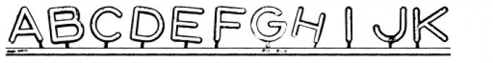 Montaplex Outline Font LOWERCASE