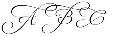 MonteCarlo Script C Font UPPERCASE