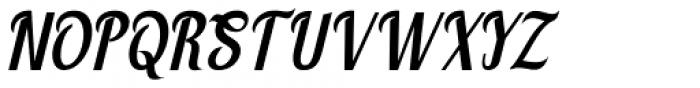 Montello Italic Font UPPERCASE