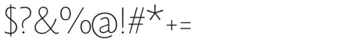 Monterchi Sans Thin Font OTHER CHARS