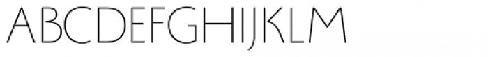 Monterchi Sans Thin Font UPPERCASE