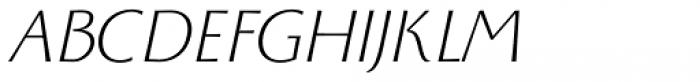 Monterchi Text Light Italic Font UPPERCASE