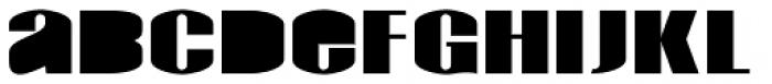 Monterra Biform Fill Fat Font LOWERCASE
