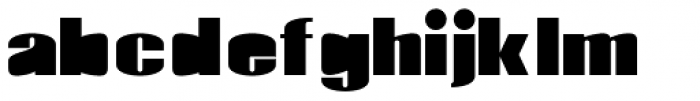 Monterra Fill Heavy Font LOWERCASE