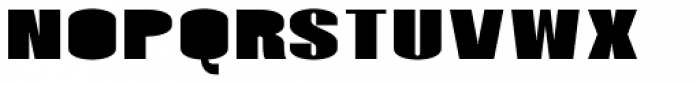 Monterra SC A Fill Heavy Font LOWERCASE