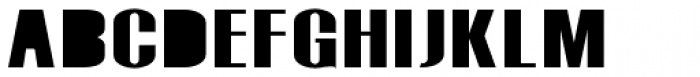 Monterra SC B Fill Bold Font UPPERCASE