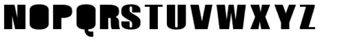 Monterra SC B Fill Bold Font LOWERCASE