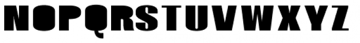 Monterra SC B Fill ExtraBold Font LOWERCASE