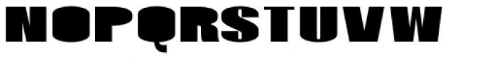 Monterra SC B Fill Fat Font LOWERCASE