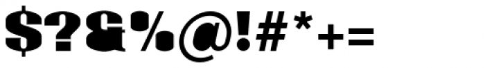 Monterra SC B Fill Heavy Font OTHER CHARS