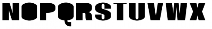 Monterra SC B Fill Heavy Font UPPERCASE