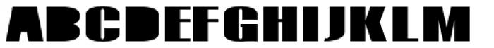 Monterra SC B Fill Heavy Font LOWERCASE