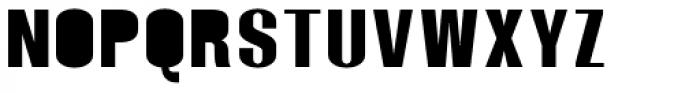 Monterra SC B Fill SemiBold Font UPPERCASE