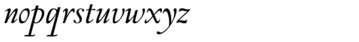 Monteverdi Italic Font LOWERCASE