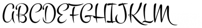 Montez Pro Font UPPERCASE