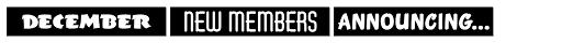 Monthly Newsletter JNL Font UPPERCASE