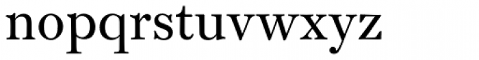 Monticello Pro Roman Font LOWERCASE