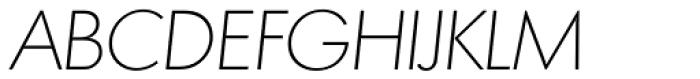 Montreal Serial ExtraLight Italic Font UPPERCASE
