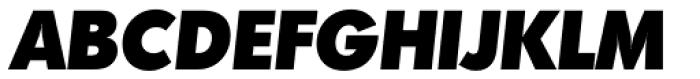 Montreal TS Heavy Italic Font UPPERCASE