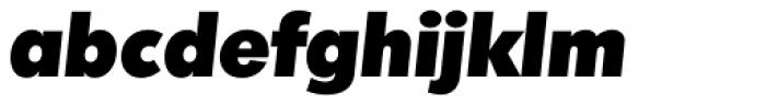 Montreal TS Heavy Italic Font LOWERCASE