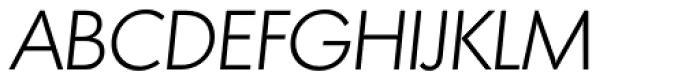 Montreal TS Light Italic Font UPPERCASE