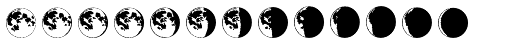 Moon Phases Font UPPERCASE
