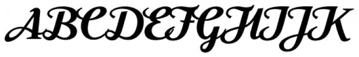 Moonface Script Bold Font UPPERCASE
