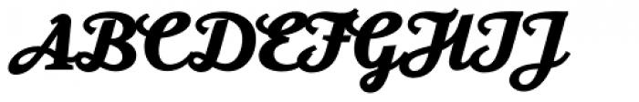 Moonface Script Heavy Font UPPERCASE