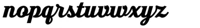 Moonface Script Heavy Font LOWERCASE
