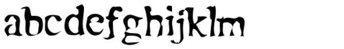 Moonshine Font LOWERCASE