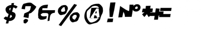 Moore 003 Bold Italic Font OTHER CHARS