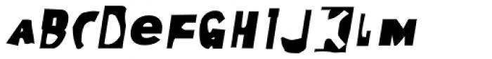 Moore 003 Bold Italic Font LOWERCASE