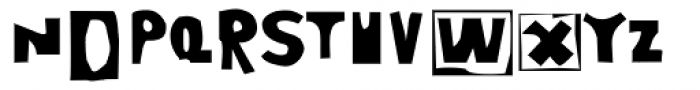 Moore 003 Bold Font LOWERCASE