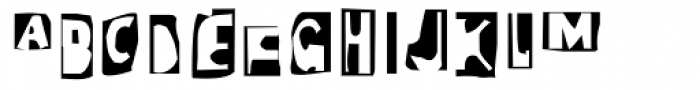 Moore 003 Cameo Font LOWERCASE