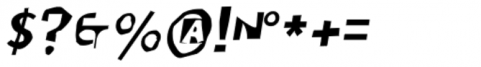 Moore 003 Italic Font OTHER CHARS