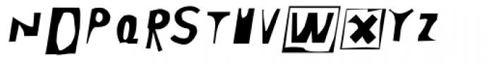 Moore 003 Italic Font LOWERCASE