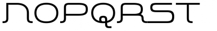 More Modern Flow Medium Font UPPERCASE