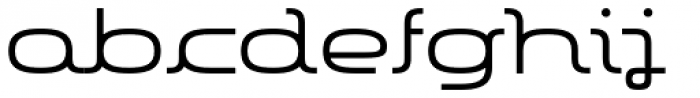 More Modern Flow Medium Font LOWERCASE