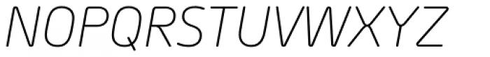 Morebi Rounded Light Italic Font UPPERCASE