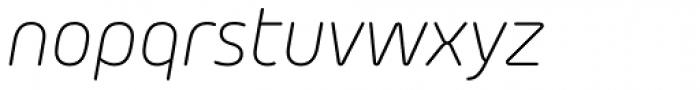 Morebi Rounded Light Italic Font LOWERCASE