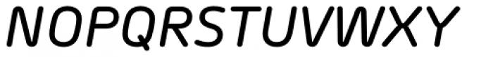 Morebi Rounded Medium Italic Font UPPERCASE