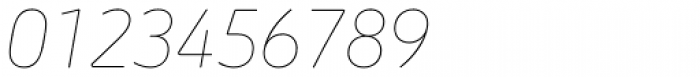 Morebi Rounded Thin Italic Font OTHER CHARS