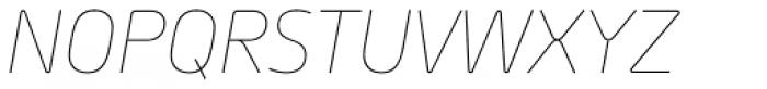 Morebi Rounded Thin Italic Font UPPERCASE