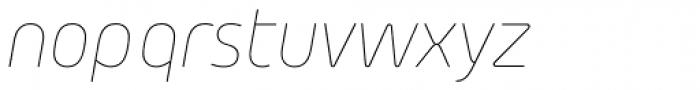 Morebi Rounded Thin Italic Font LOWERCASE