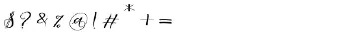 Morelight Script Regular Font OTHER CHARS