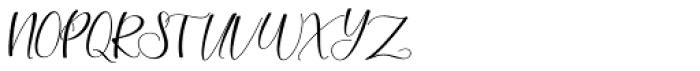 Morelight Script Regular Font UPPERCASE