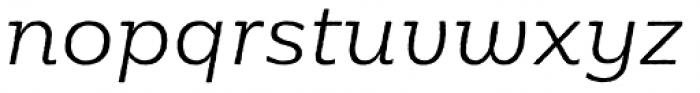 Moreno Rough Light Italic Font LOWERCASE