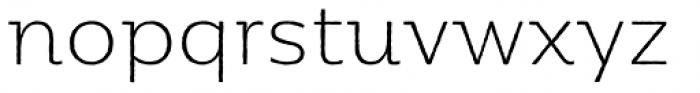 Moreno Rough Thin Font LOWERCASE