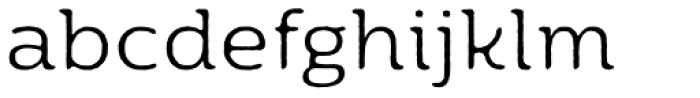 Moreno Rough Two Light Font LOWERCASE