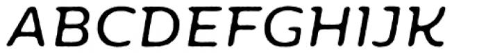 Moreno Rough Two Regular Italic Font UPPERCASE